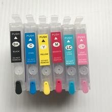 YOTAT Empty T0821N Refillable ink cartridge T0821 – T0826 for Epson Stylus Photo T50/R290/R390/RX590/RX610/RX690/TX650/TX700W