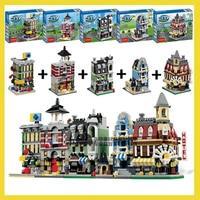 1320 Pcs 5 In 1 Model Building Kit Compatible With Lego City Mini Creators Cafe Corner
