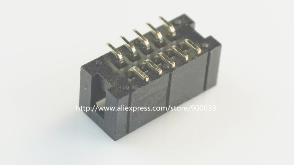 100 Pcs SMT 2.54mm 2x5 Pin 10 P shrouded Box header IDC Socket straight Male 2 rows 2.54 SMD PCB reflow solder 10 pcs 1 27mm x1 27 mm box header 2x8 pin 16 pin dual rows through hole dip type straight male shrouded pcb idc socket
