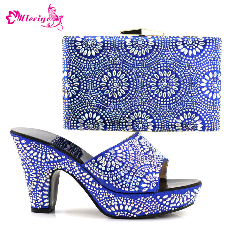 все цены на Latest Fashion Women Italian African Party Pumps Shoes and Bag Set Decorated with Rhinestone Women Shoes and Bag Set In Italy