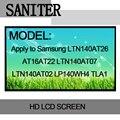 Bilgisayar ve Ofis'ten Dizüstü Bilgisayar LCD Ekran'de SANITER Geçerlidir Samsung LTN140AT26 AT16AT22 LTN140AT07 LTN140AT02 LP140WH4 TLA1 laptop lcd ekranı