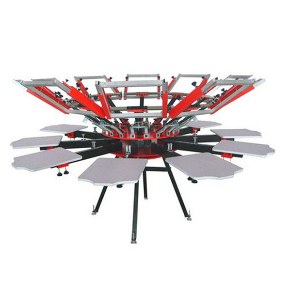 Ten Color Rotary Screen Printing Machine For T Shirts
