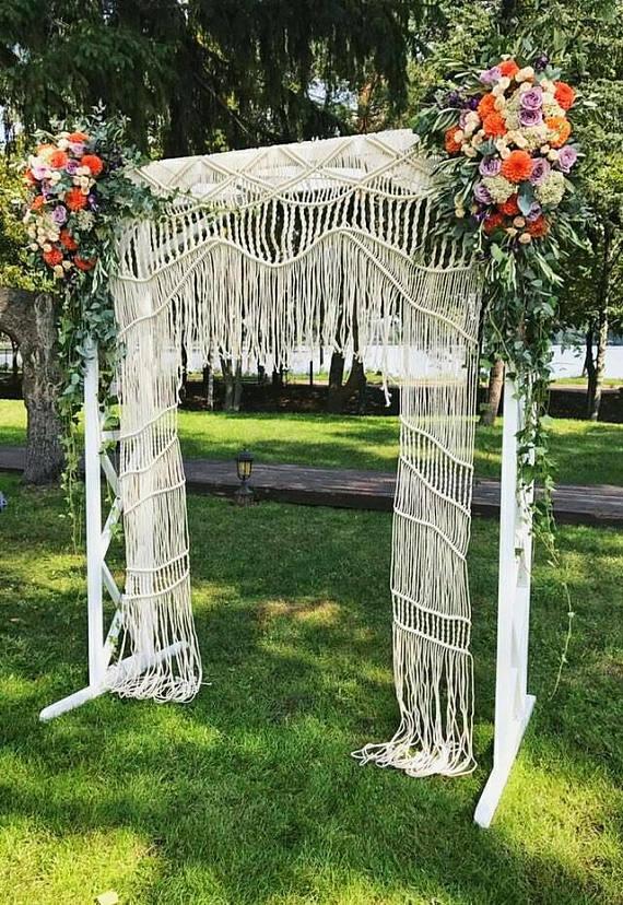 Boho Macrame Wedding Backdrop Macrame Backdrop Wedding