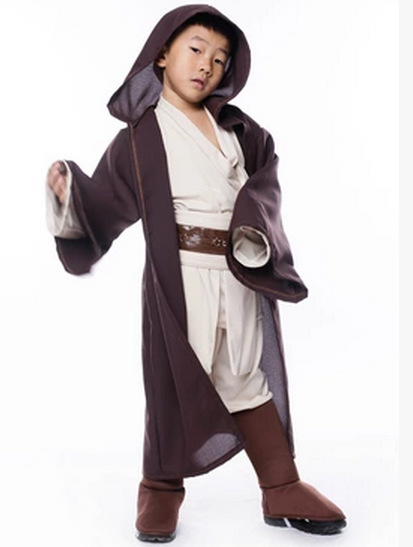 2018 New Boys Star Wars Deluxe Jedi Warrior Movie Character Cosplay Party Clothing Kids Fancy Halloween Purim Carnival Costumes