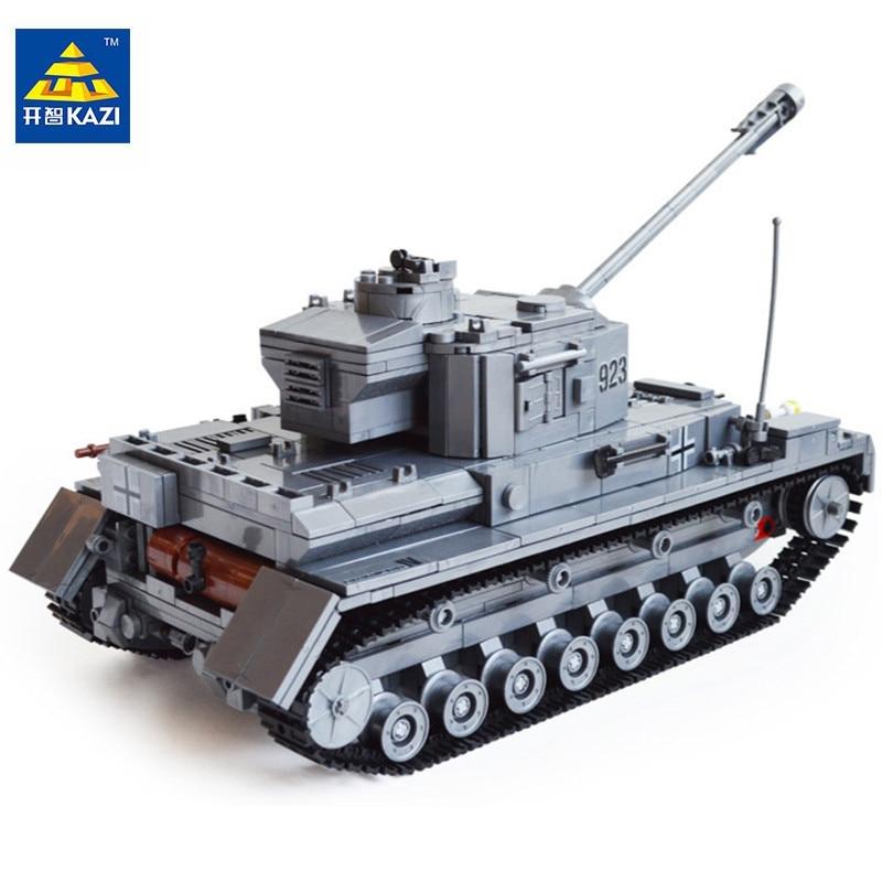2017 KAZI Military Germany Tank Building Blocks 1193pcs Bricks Educational Bricks Toys For Children Boy's Birthday Gift 82010 8 in 1 military ship building blocks toys for boys