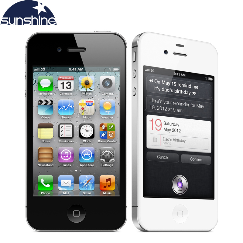 "Original Unlocked Apple iPhone 4S Mobile Phone 3.5"" 8MP 1080P  3G Wifi GPS iOS Used Phone"