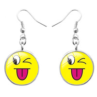Hotsale Fashion Wedding Party Jewelry Accessory Funny Lovely Emoji Drop Dangle Pendant Hook Earrings