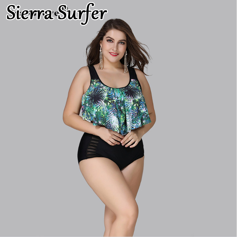 Women Ladies Plus Size Floral Swimsuit Costume Beach Swimming Swimwear 18-26
