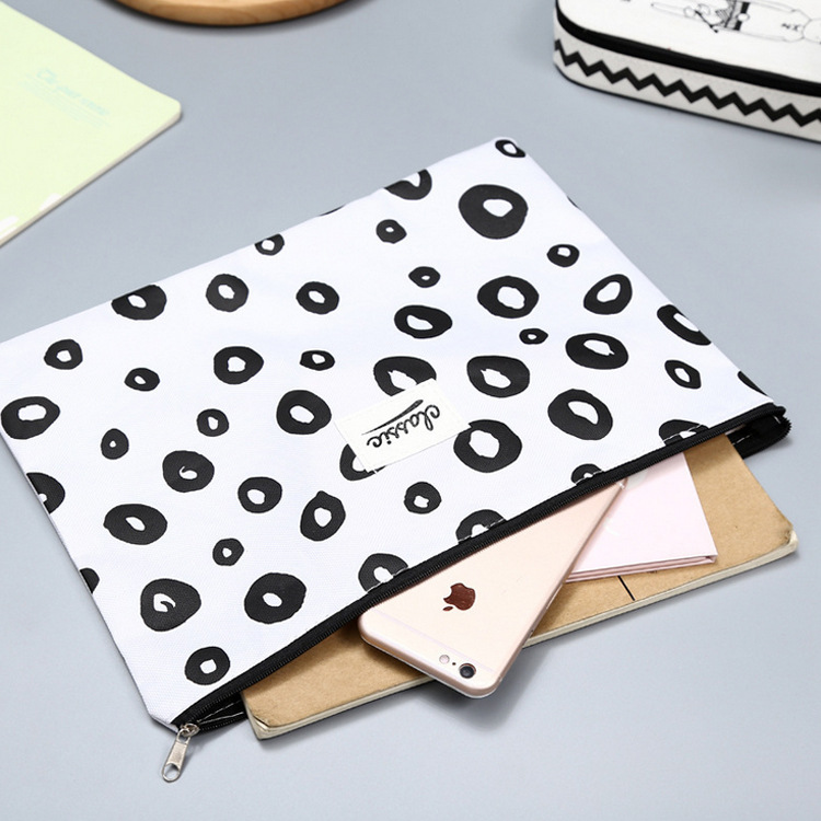 Filing Products Cute Cat A4 Bag Fabric File Folder For Documents Stationery 32*24cm Document Bag School Suppliers File Folder