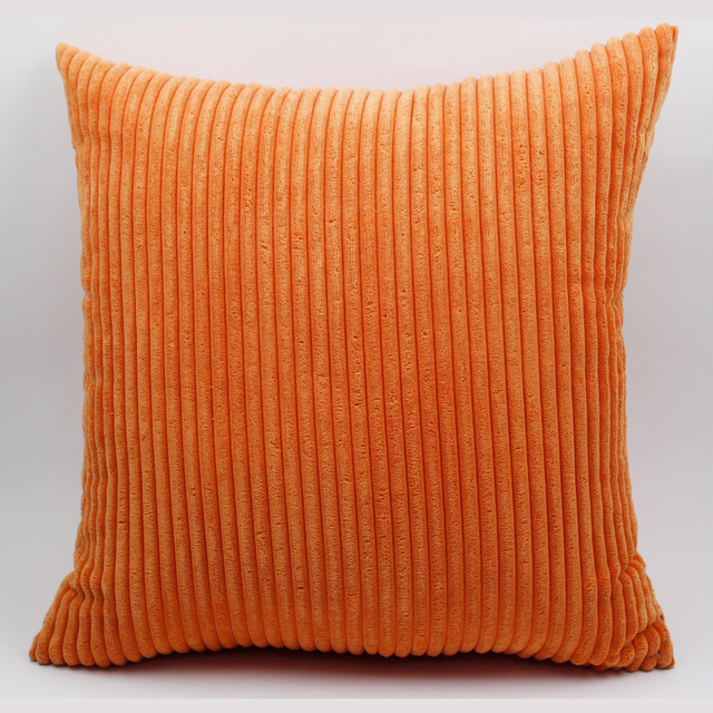 Orange Corduroy Sofa Cushion Cover 3