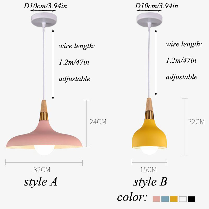 Lampara Colgante Pendant Lights Lustres Abajur Pendant Lamp Luminaire Hanglamp Wood Aluminum Lamp Shade For Home Lighting Dining (6)