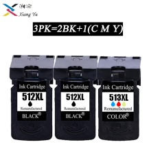 3PK PG 512 pg512 CL 513 ink cartridge replacement for Canon PG-512 CL-513 MP240 MP250 MP270 MP230 MP480 MX350 IP2700