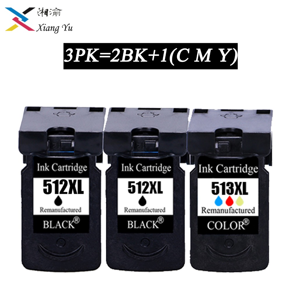 3PK PG 512 pg512 CL 513 ink cartridge replacement for Canon PG-512 CL-513 for Canon MP240 MP250 MP270 MP230 MP480 MX350 IP2700 image