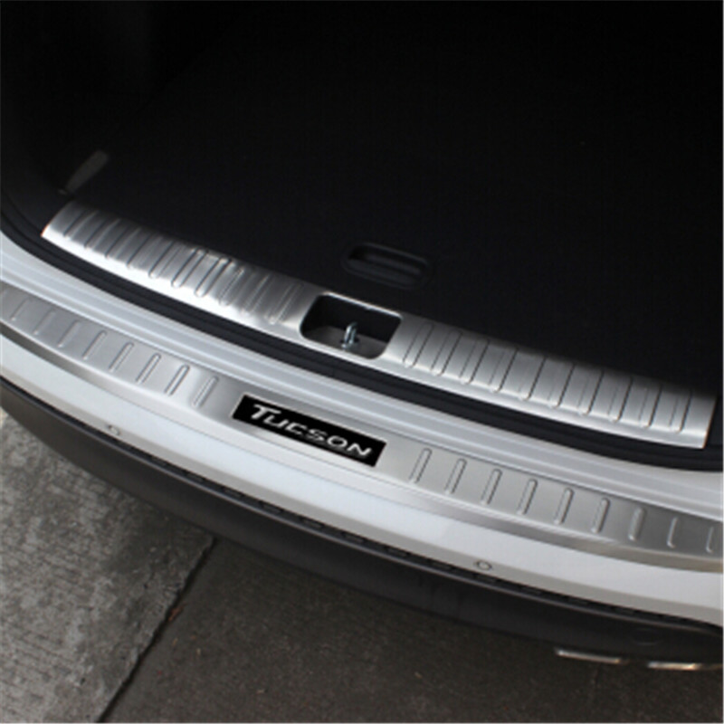 stainless steel Rear Bumper Car door cover inside and outside door sill for Hyundai Tucson 2019 Car Stylingstainless steel Rear Bumper Car door cover inside and outside door sill for Hyundai Tucson 2019 Car Styling