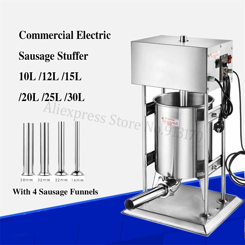 Automatic Electric 12L Sausage Stuffer Filler Salami Filling Machine Spanish Churros Maker Churro Extruder