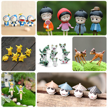 20 styles Artificial Cartoon Animals & Anime Figurines Mini Garden Decoration Flower Pot Decor Micro Landscape Miniatures
