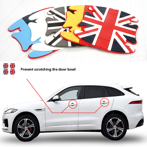 Image 1 - 4pcs Universal Soft Rubber Car Door Wrist Protective Film fit for MINI Auto Handle Scratches Stickers Fashion Decals Accessories