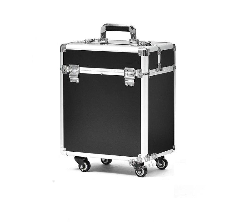 ราคาถูกกลิ้งกระเป๋าแต่งหน้ากรณีC Arry Onการจัดเก็บกระเป๋าเดินทางกล่องรถเข็นกล่องเครื่องสำอาง-ใน กระเป๋าเดินทางแบบลาก จาก สัมภาระและกระเป๋า บน   1