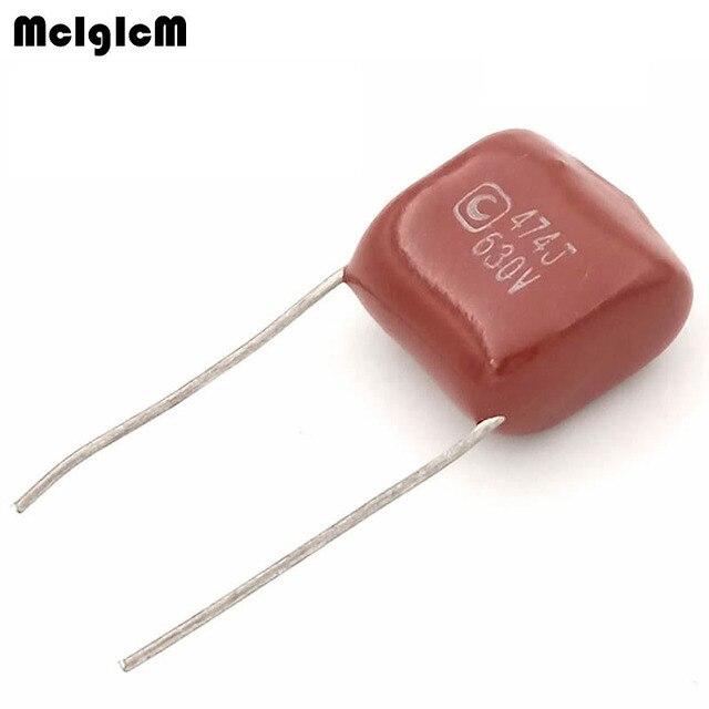 MCIGICM 1000 pcs 474 470nF 630V CBB Polypropylene film capacitor pitch 15mm 474 470nF 630V