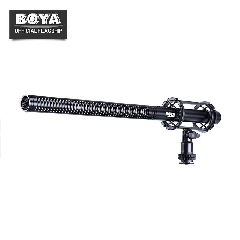 BOYA BY-PVM1000L Professional Condenser Shotgun Interview Microphone Camera Video Mic for Canon Nikon Sony DSLR Camera Camcorder boya uhf wireless lavalier microphone recorder system for video interview broadcast mic canon nikon dslr camera sony camcorder