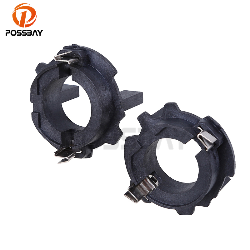 POSSBAY Auto Car 1Pair HID Xenon Bulb H7 Holder Adapters Headlight Base Adaptor For VW Jetta Golf GTI MK5
