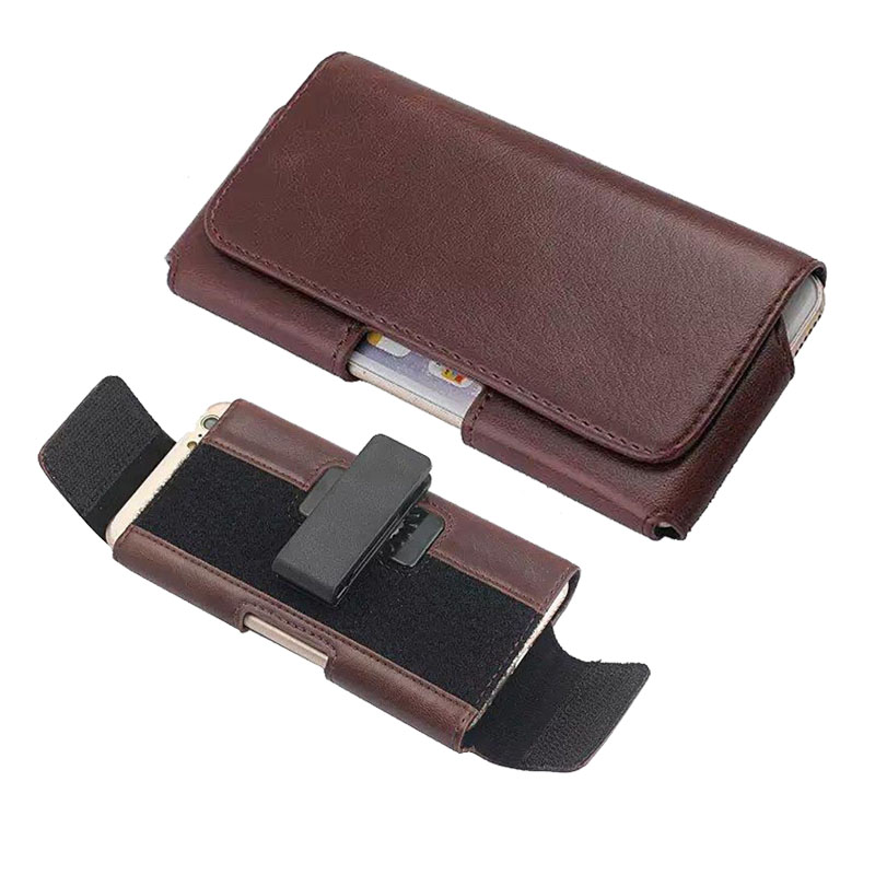 Leather Universal Phone Pouch For Huawei Honor 8 Honor 7 Honor 9 Size Adjustable Belt Clip