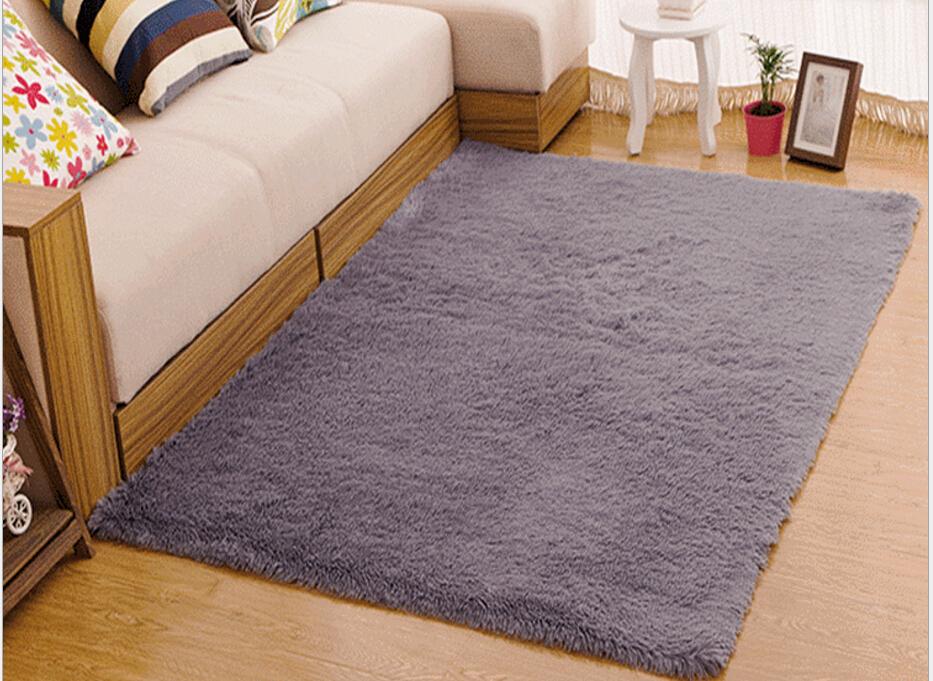 Living Room Carpet European Fluffy Mat Kids Room Rug Bedroom Mat Antiskid Soft Faux Fur Area Rug Rectangle Mats Gray Red Green 10
