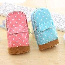 Lovely Mini Schoolbags Cosmetics Bag Makeup Box Pen Canvas Pencil Case Pen Coin Bag New