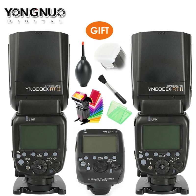 YONGNUO YN600EX RT II 2,4G беспроводной HSS 1/8000s Master Flash Speedlite + YN E3 RT TTL радио триггер Speedlite передатчик + подарок