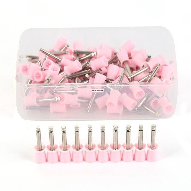Y & W & F 100 piezas dentales copa de goma polaco cepillo de diente tipo de cierre de goma Dental profilaxis pulidor de copa
