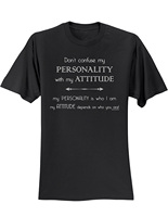 GILDAN T Shirts Men Casual Don T Confuse My Personality With My Attitude T Shirt Slogan
