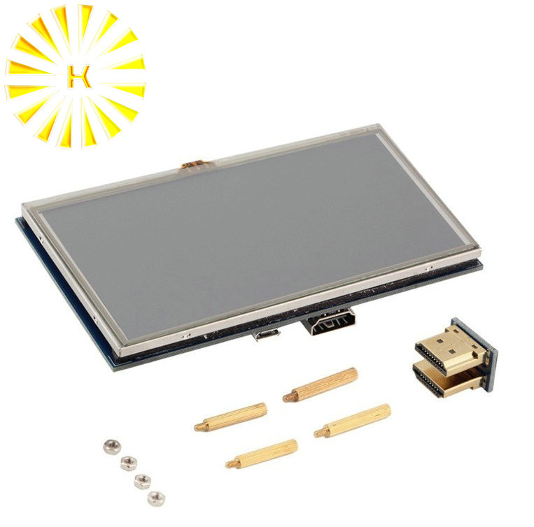 7 inch Raspberry Pi 3 B+ Touch Screen 1024*600 Capacitive Touchscreen LCD HDMI Interface TFT Display Connector|Connectors| |  - title=