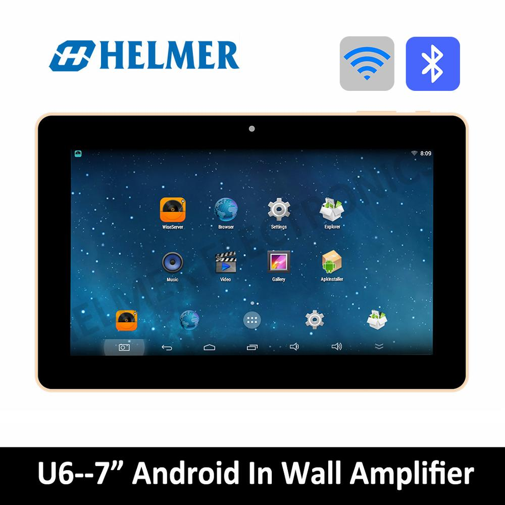 helmer 7 inch touch screen android amplifier wireless home audio amplifier bluetooth digital. Black Bedroom Furniture Sets. Home Design Ideas