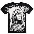 Euro M-3XL 2017 Men's Summer Brand New Camis 3D T Shirt Casual Rock Wolf Bob Marley Skulls Indians Print Tops Dress Cool T Shirt