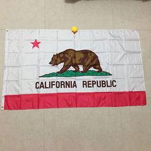 Бесплатная доставка флаг xvggdg Калифорния 3*5 футов Американский