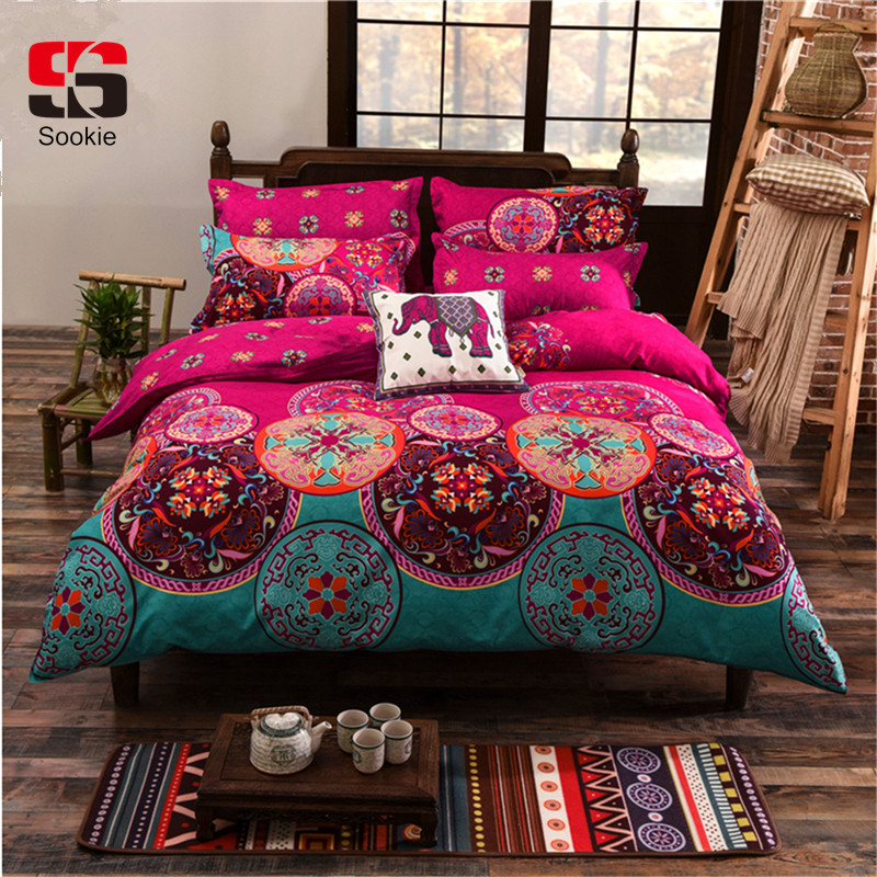 Sookie Bedding-Set Duvet-Cover Boho-Style King-Queen-Size Girl Bohemian Luxury 3/4pcs