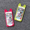 Прекрасный милый мультфильм оболочки protecive телефон чехол хороший и горячая 3d кот уха дизайн 3d животных силиконовый чехол для iphone 5 5S 6 4.7 дюймов