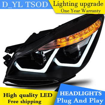Car Styling Head Lamp for ESCAPE KUGA 2013-2015 Head lamp LED Daytime Running DRL Bi-Xenon Lens HID Automobile Accessories