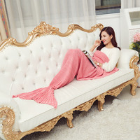 Mermaid Blanket Thread Blanket Towel Blanket Spring Autumn Summer Sofa Blankets Plaidair Conditioning