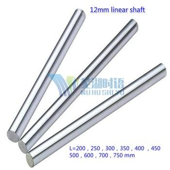 12mm wał liniowy 200 250 300 350 400 450 500 mm chromowane utwardzony pręt wał ruchu liniowego części cnc 3d części drukarki
