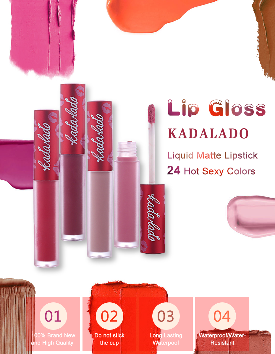 HTB1LxAORVXXXXcCaXXXq6xXFXXX4 KADALADO Brand Make Up Waterproof Nude Lipstick Long Lasting Liquid Matte Lipstick Kit Lip Gloss Cosmetics Lipgloss Lip Makeup
