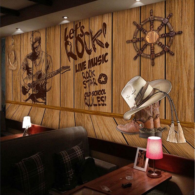 beibehang Custom 3D creative personality nostalgic wooden sailing large music theme wallpaper murals restaurant hotel coffee beibehang custom 3d personality summer