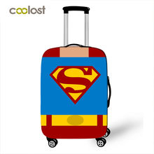 Comics Super Hero Luggage Protective Cover Travel Accessories Elastic Luggage Covers Anti Dust Cover Apply to 18''-20'' Suitcase(China)