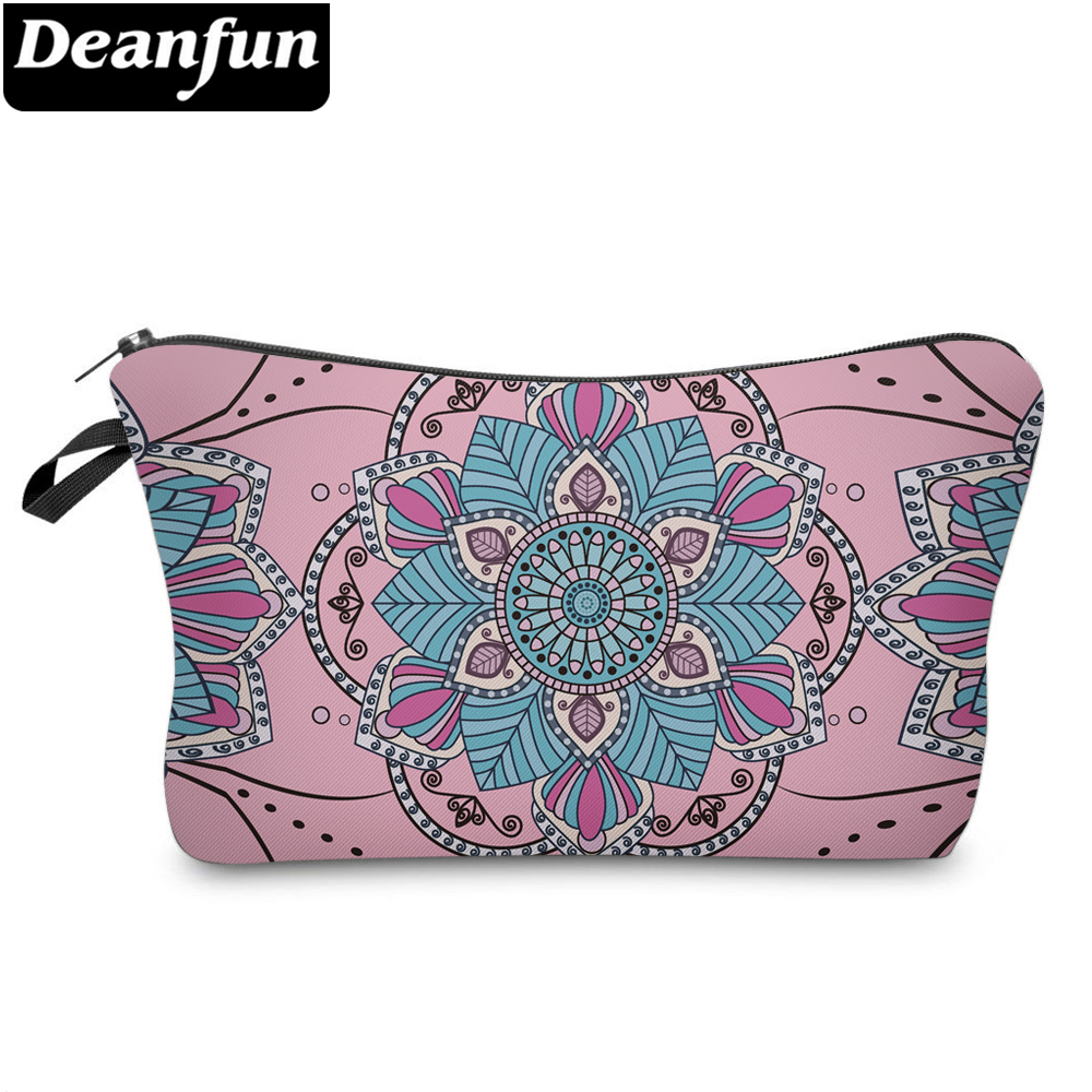 Deanfun Flower Cosmetic Bags 3D Printed Vintage Mandala Necessaries for Women Makeup Storage 51241 3d printed mandala beach throw