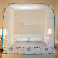 Large Square Mosquito Net For 1.8m Double Bed Insect Reject Bedding Net Three door With Zipper Folding Portable Bed Net 13 Color
