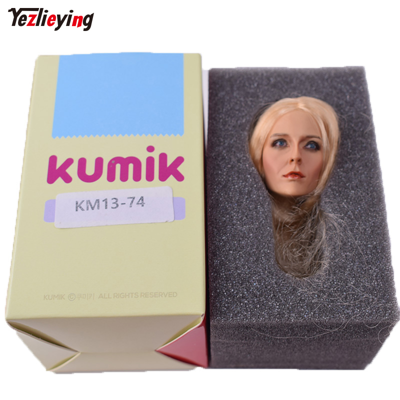 Toys 1: 6 Scale KUMIK Female Head Sculpt For 12 Phicen Hot Toys Fish sitting Action Figure Body KM13-74 Carving Model Toys Doll цена