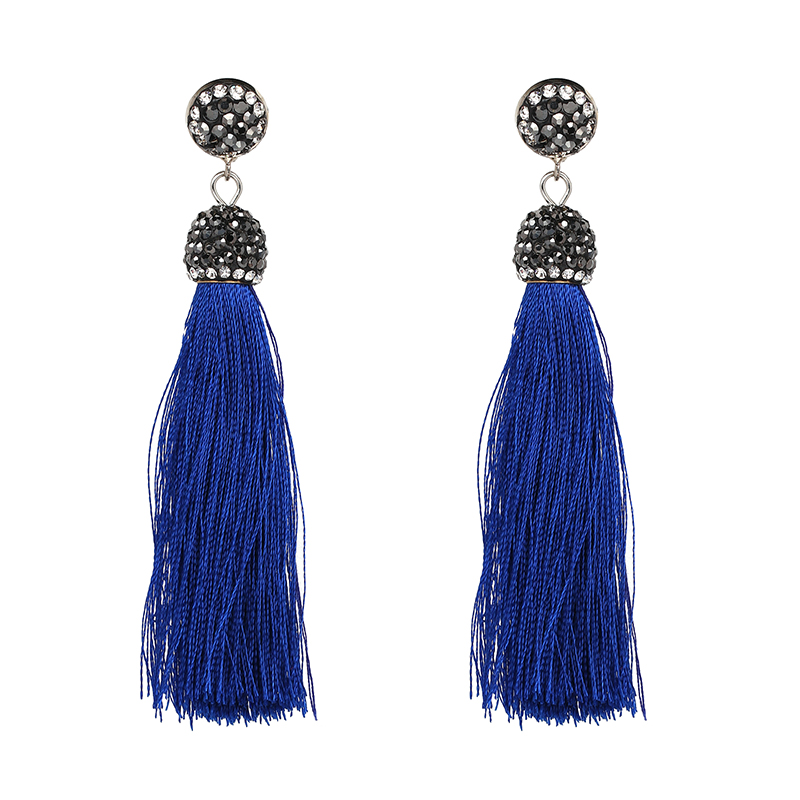 New Boho Statement Jewelry Cotton Fringed Earrings Fashion Tassel Drop Dangle Earrings For Women Gift Whoelsale
