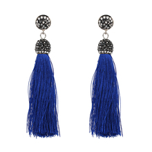 New Boho Statement Jewelry Cotton Fringed Earrings Fashion Tassel Drop Dangle Earrings For Women Gift Whoelsale Price F50266