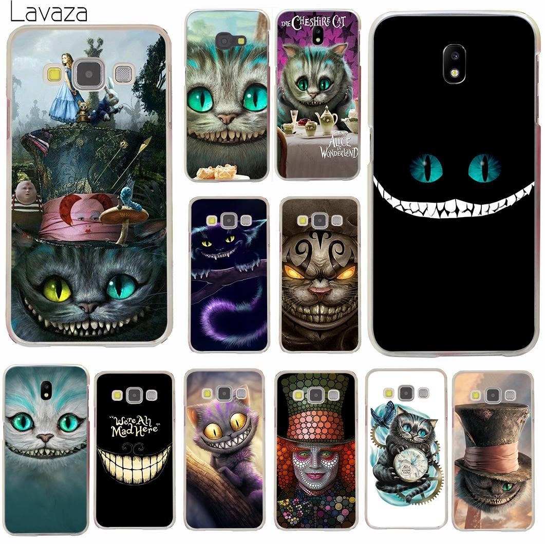 Lavaza Alice in Wonderland Cheshire Cat Hard Phone Case for Samsung Galaxy J3 J1 J2 J7 J5 2015 2016 2017 J2 Pro Ace J7 J5 Prime