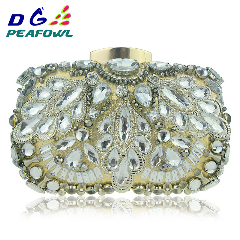 Clutch-Bags Rhinestone Evening-Bag Crystal Women Luxury for New Factory